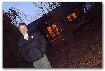 Chris at cabin
