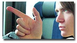 Arin-on-bus-finger-gun